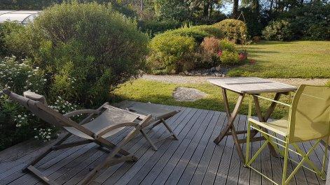 Terrasse privative équipée